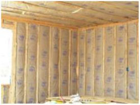 Batted wall insulation residential or commercial